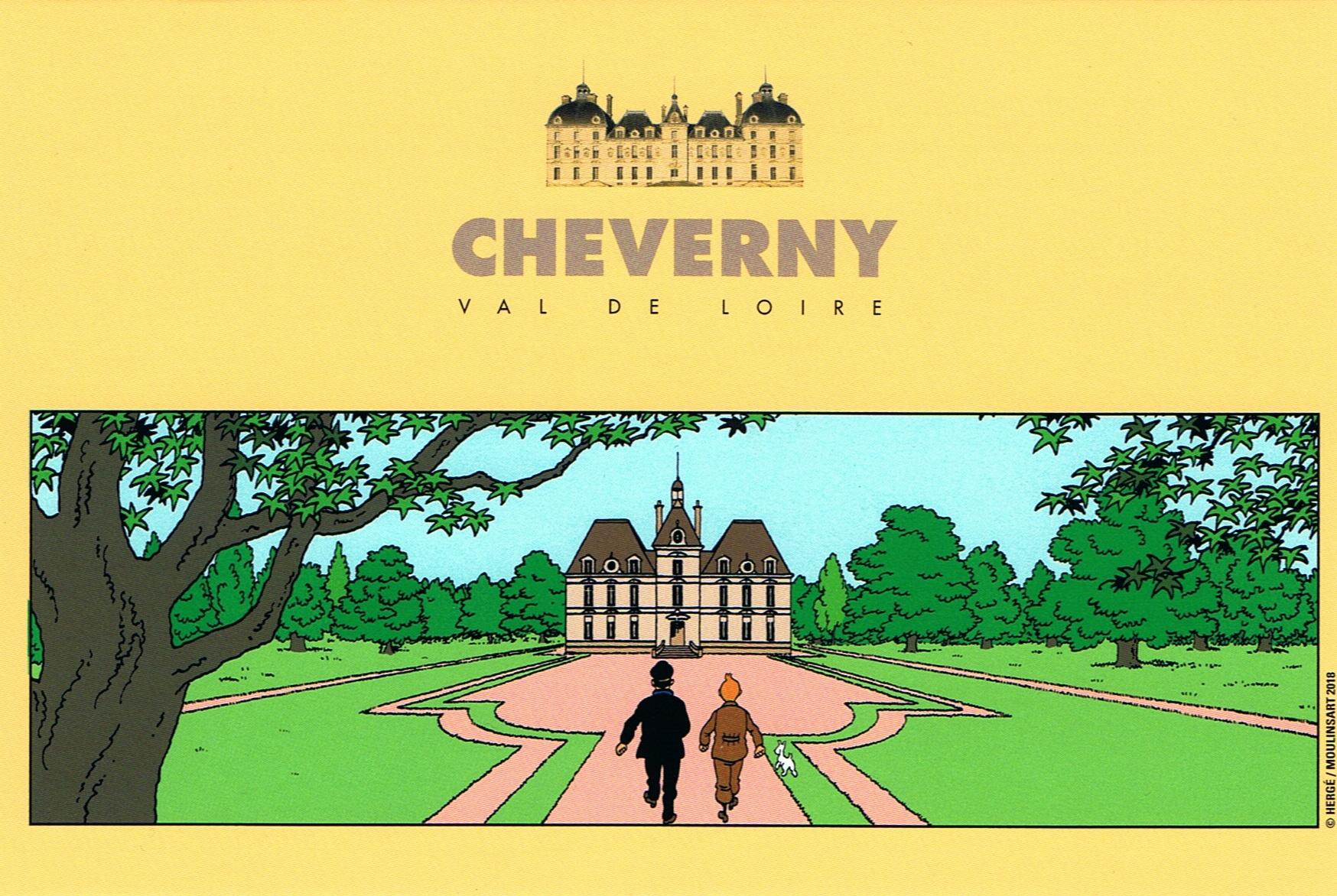 Tintín en Cheverny- Postales para mamá