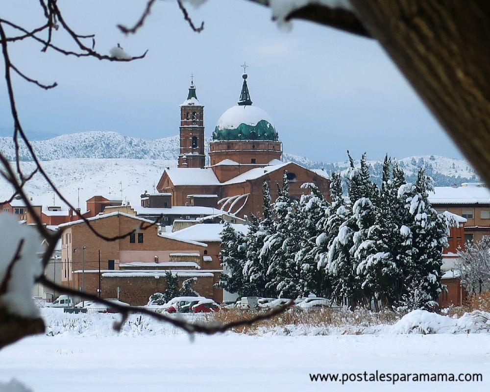 Postales La Almunia nevada - Postales para Mamá